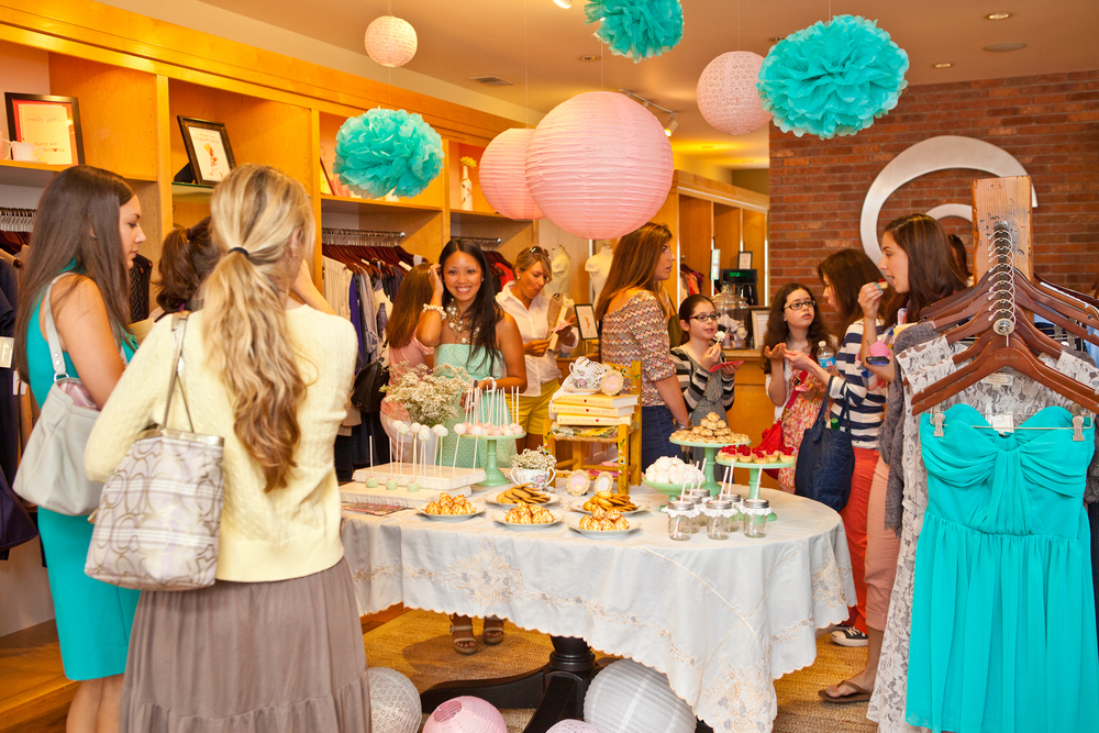 Pink & Aqua Emily Giffin Book Launch Party; Event styled by Washington DC event planner Petite Social on Fortique