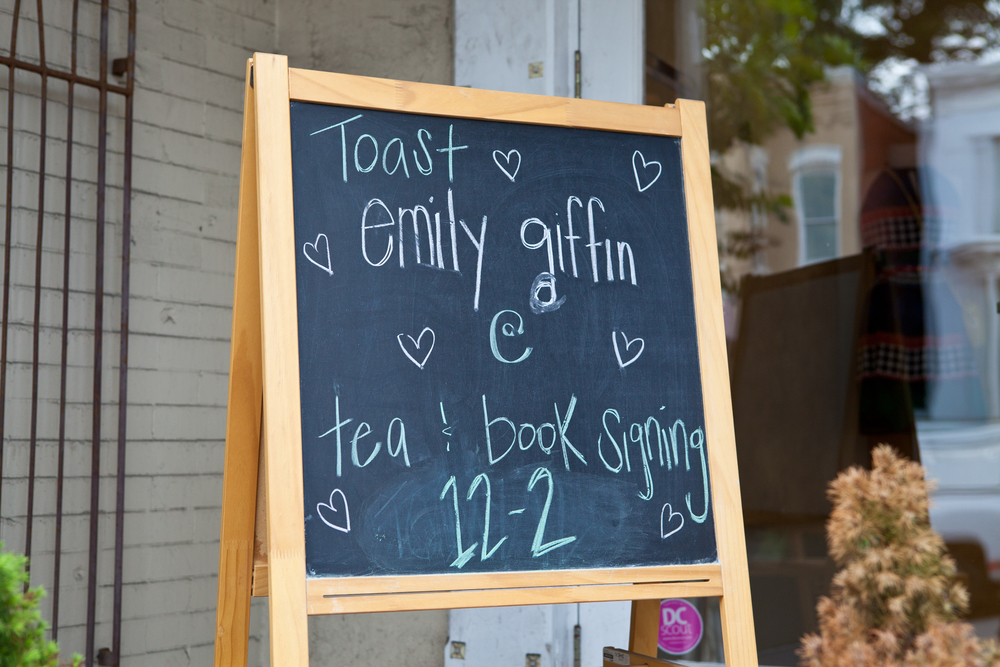 Chalkboard Art; Emily Giffin Book Launch Party; Event styled by Washington DC event planner Petite Social on Fortique