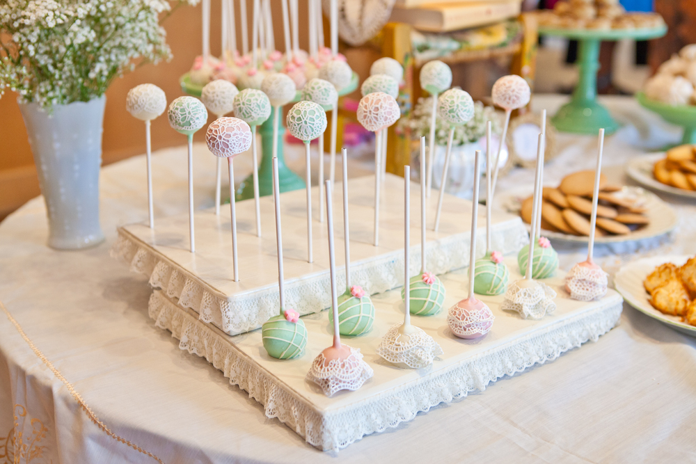 Delicate cake pops; Event styled by Washington DC event planner Petite Social on Fortique