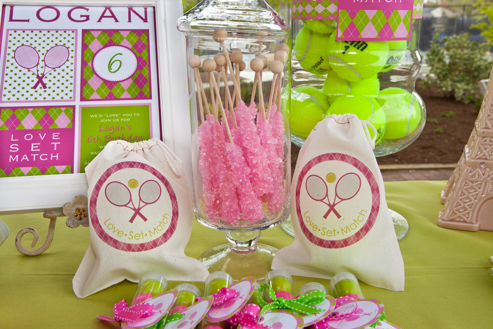 Tennis Birthday Party Tablescape - Washington DC Birthday Party Planner