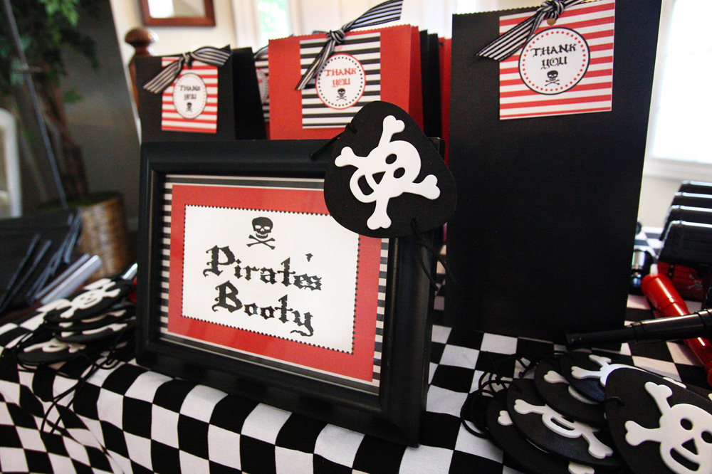 Pirate's Booty Pirate Birthday Party Favors - Washington DC Event Planner