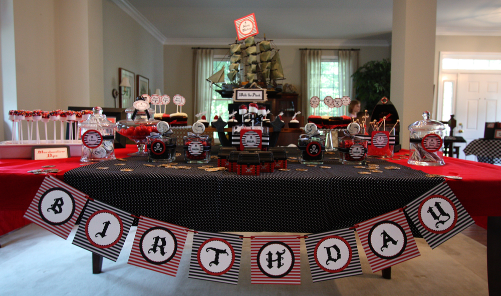 Pirate Birthday Party Table Scape - Washington DC Event Planner