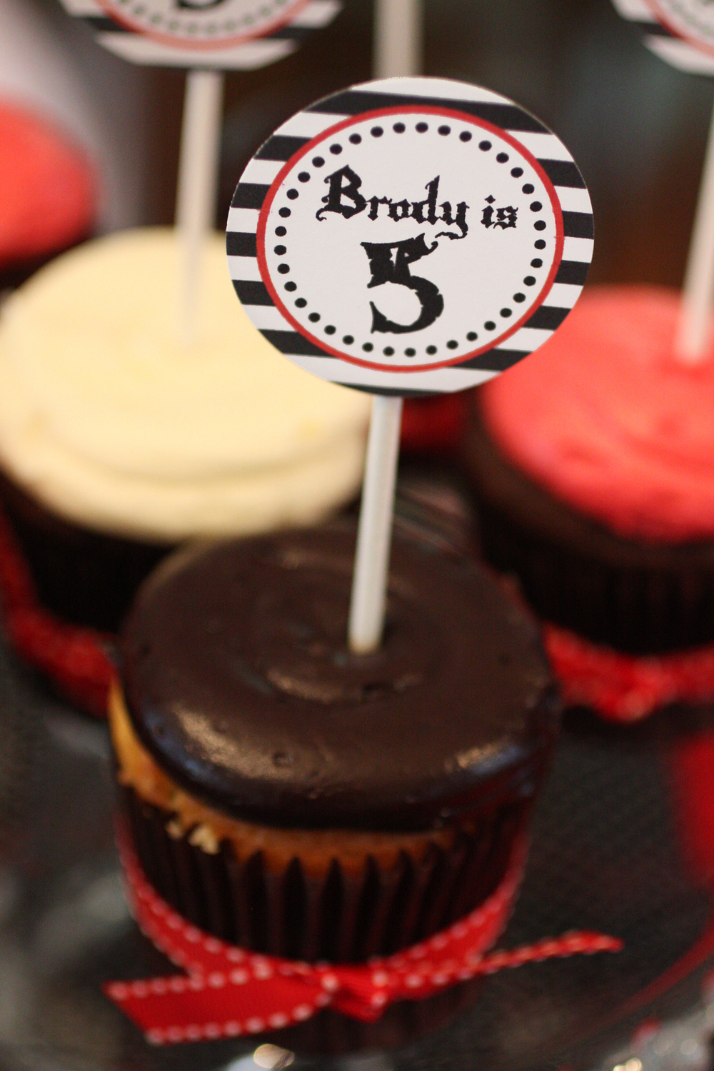 Pirate Birthday Cupcakes - Washington DC Birthday PArty Planner