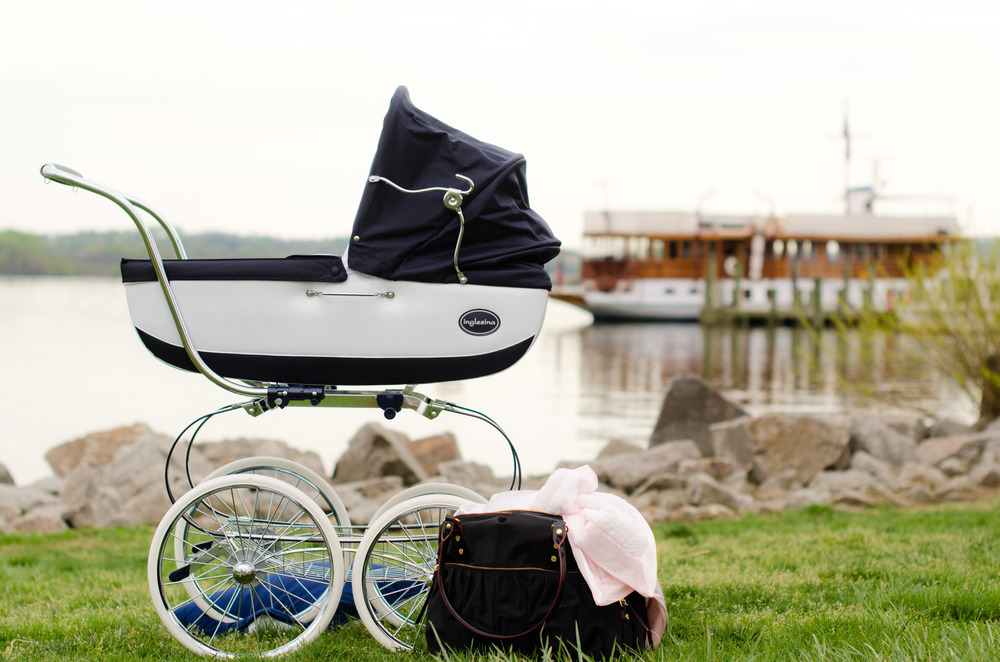 Navy Blue Baby Buggy - Photo Shoot Stylist