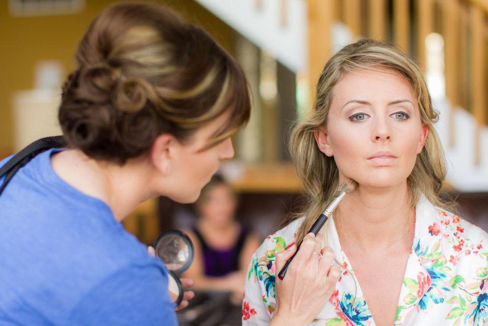 Natural bridal makeup by wedding makeup by top Washington DC makeup artist Brigid Wilson on Fortique