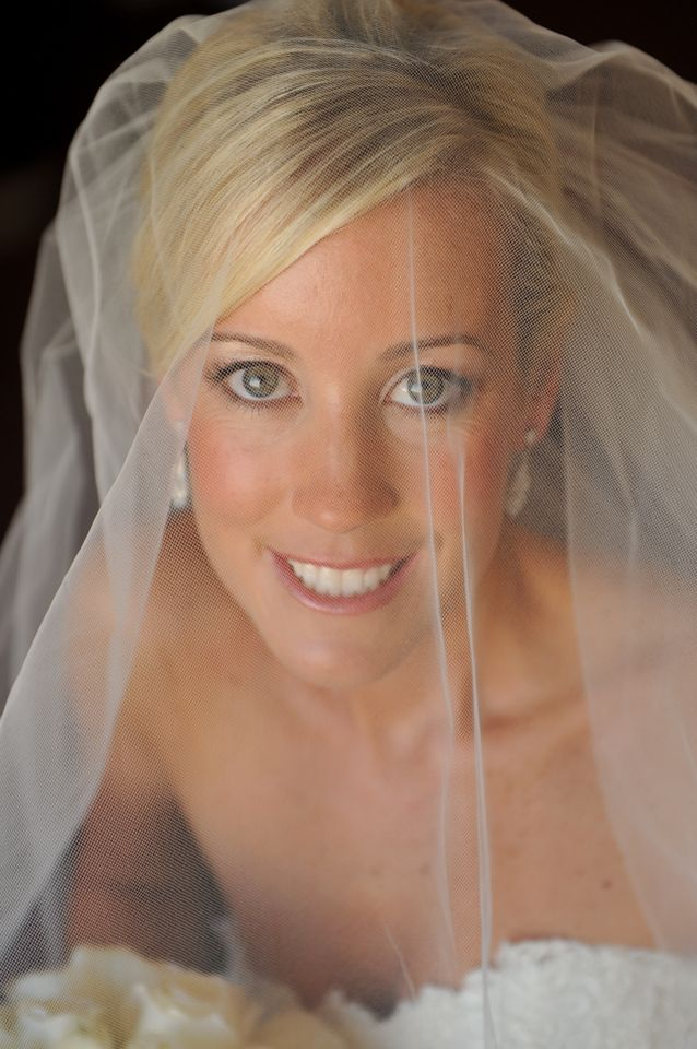 Bridal makeup for blonde bride by by Washington DC wedding makeup artist Stacy Ferguson on Fortique