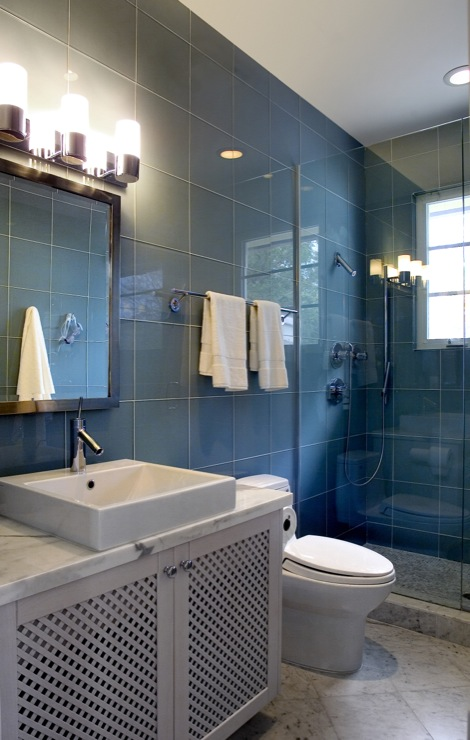 Blue Bathroom Redesign