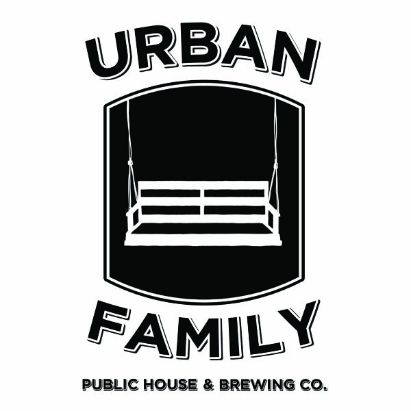 Urban Family black and white swing logo designed by Washington DC graphic designer Cherry Blossom Creative on Fortique