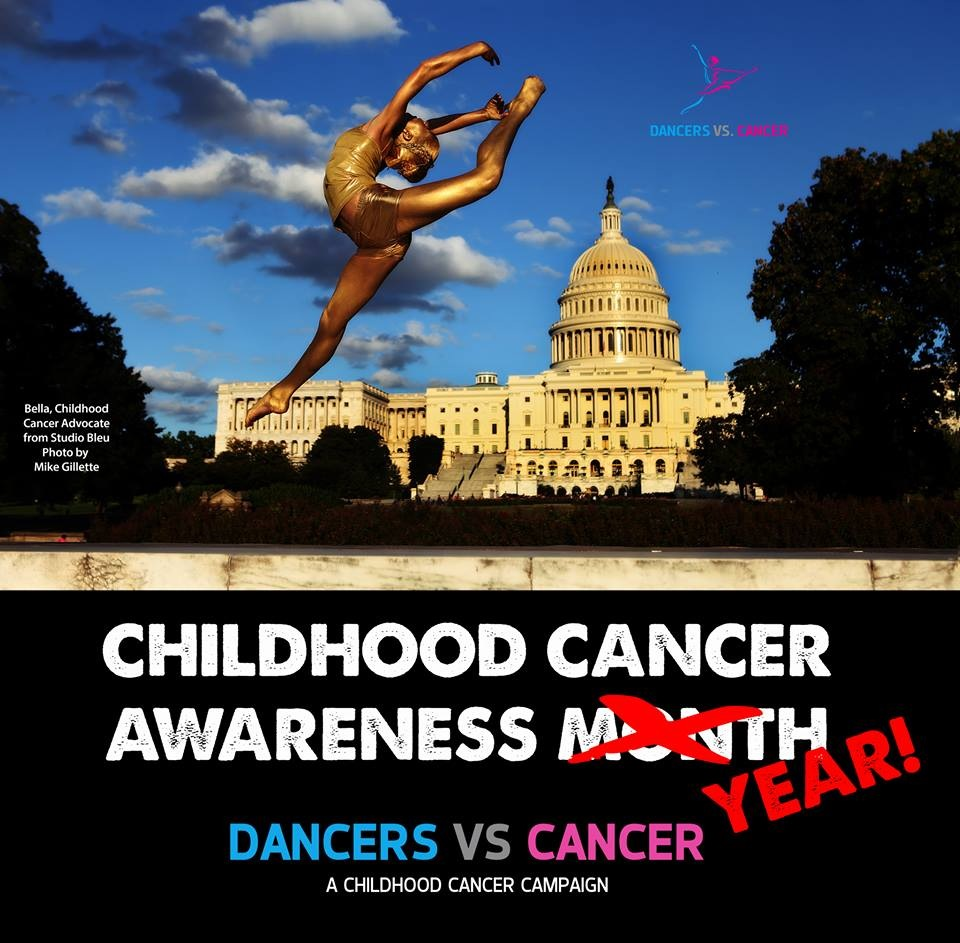 Dancers vs Cancer Gold Bodypaint by Washington DC Makeup Artist Julie Wardley