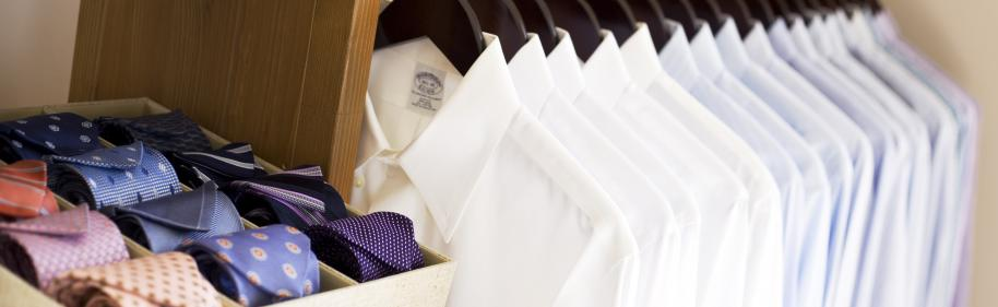 Men's Closet Organization by Washington DC profession organizers NEAT Method on Fortique