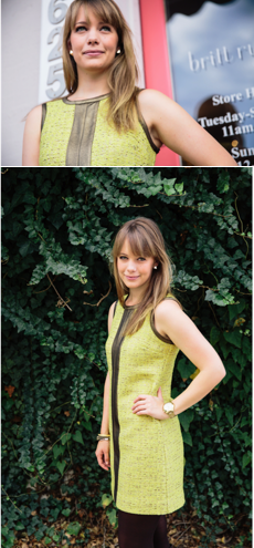 Britt Ryan Lime Green Dress
