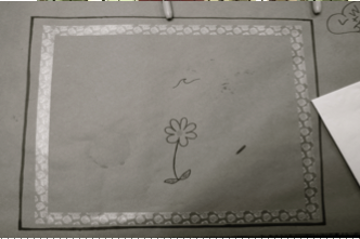 Butcher Paper Placemat Flower