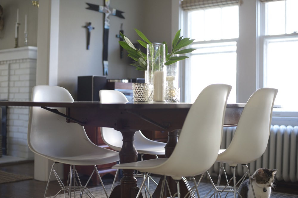 Modern, clean, kitchen table design; designed by Washington DC interior designer The Casa Pino on Fortique