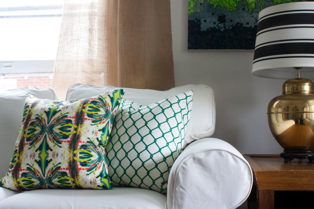 Bright Green Custom Pillow
