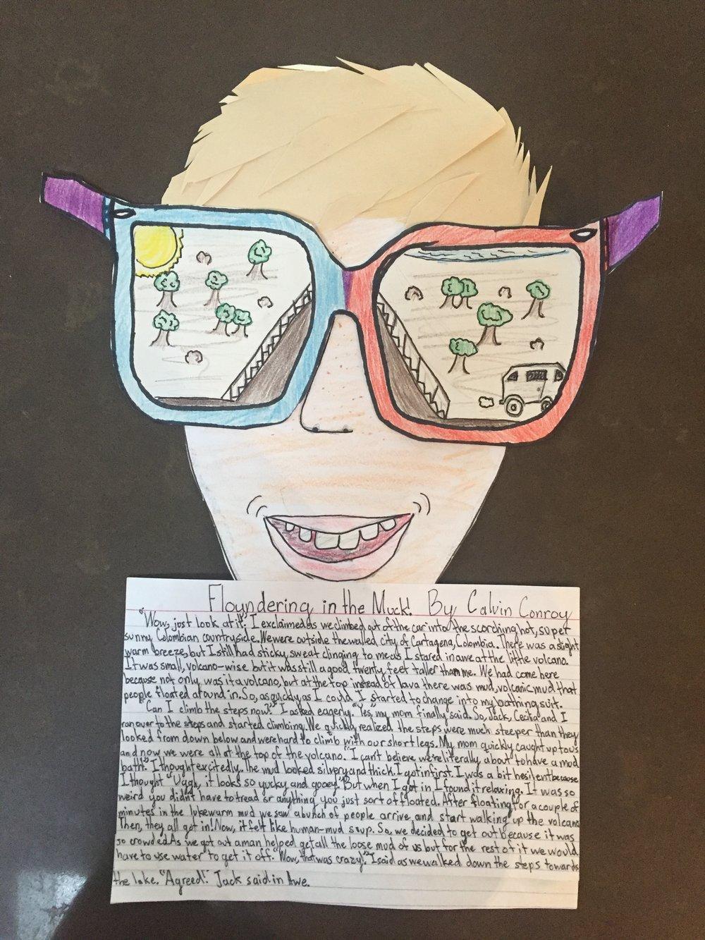 written by Calvin, as a 5th grade school assignment