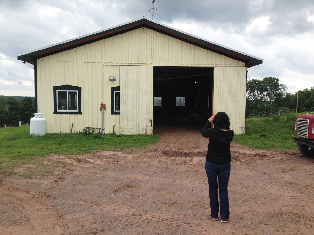 Marielle Wilkes, Scouting locations at Greeanane Farms, Meridale, NY.