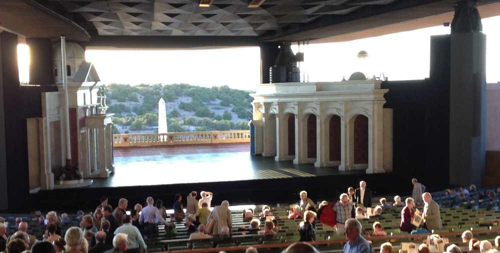 Open air stage at Santa Fe opera