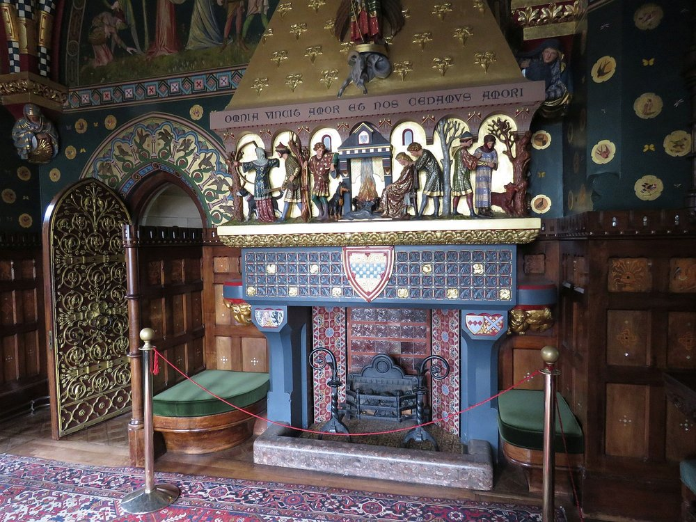 Smoking room at Cardiff Castle - more photos follow the post