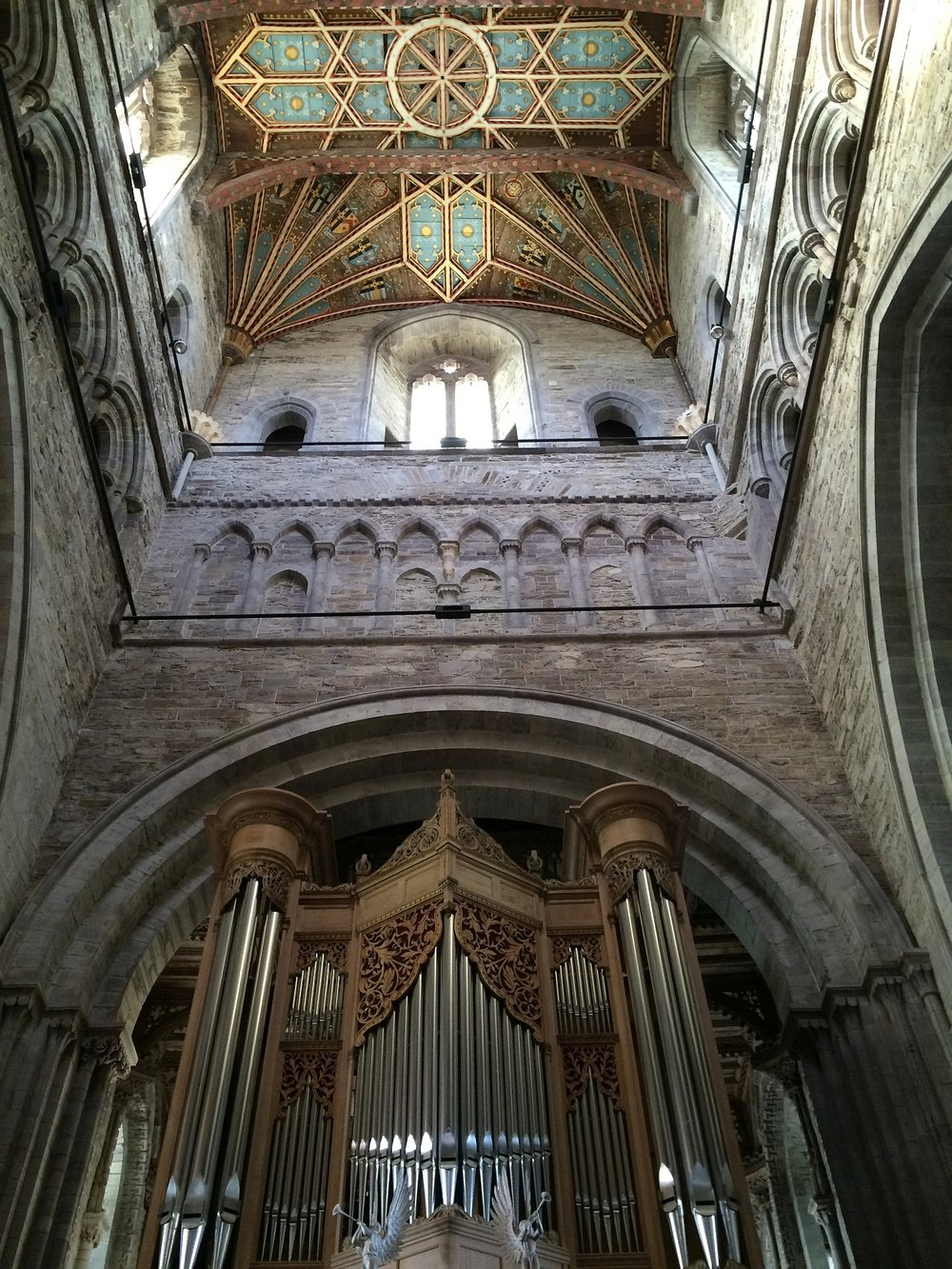 Pipe organ and ceiling, St. David's