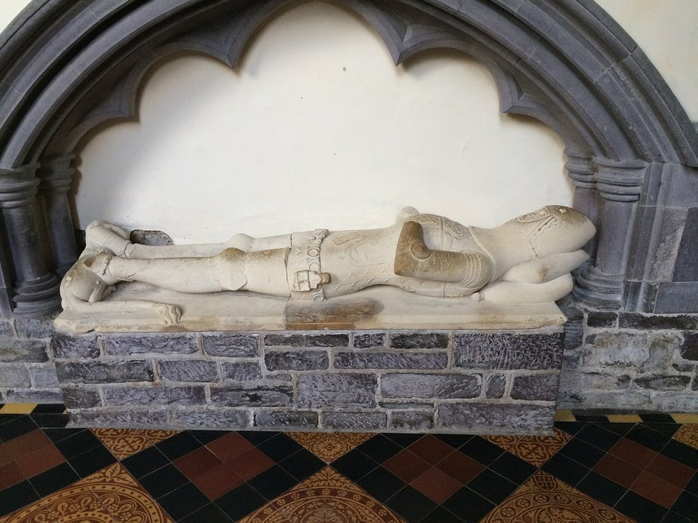 Tomb of a royal Welsh knight - St. David's