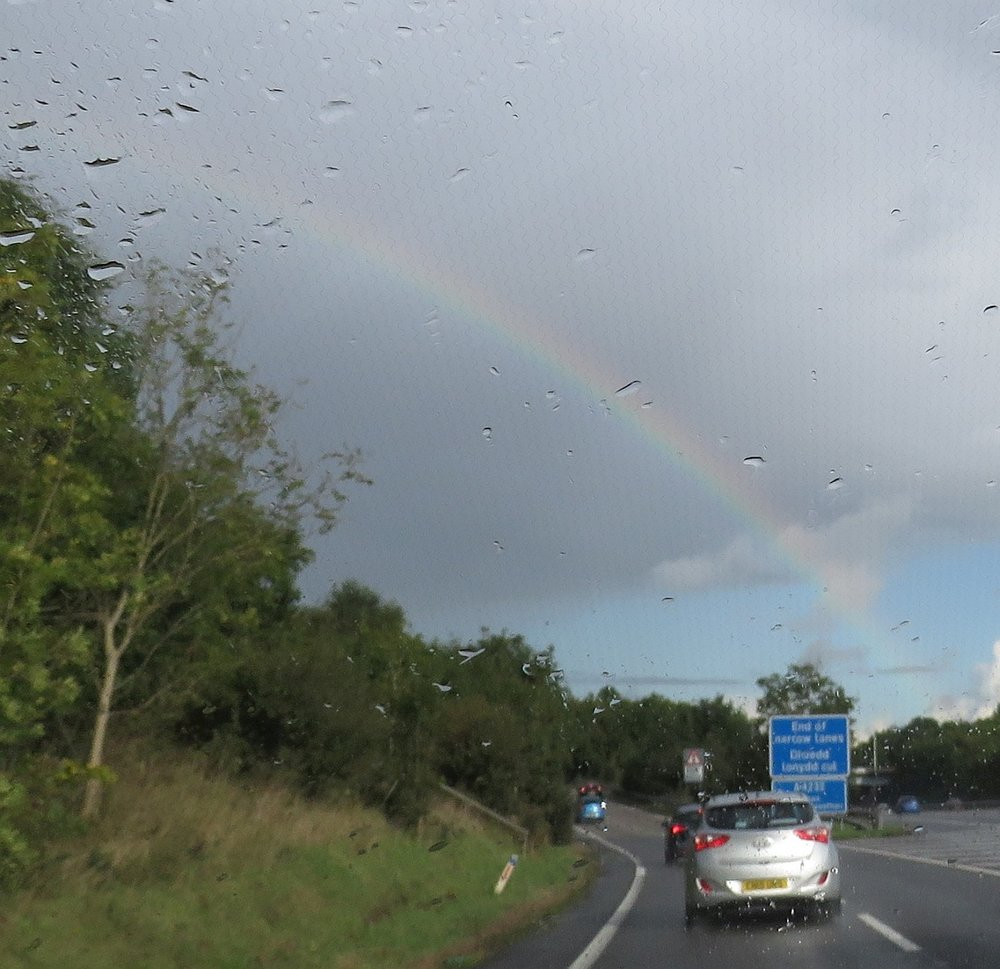 Rainbows lead the way east on the A40