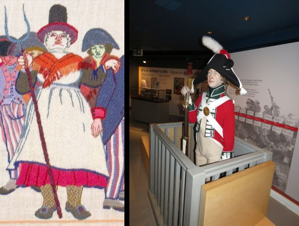 Back to the Fishguard legend of Jemima.  Found this model of a late 18th century redcoat.  It's possible that starving French soldiers could have seen Jemima as a soldier.  She certainly acted the part.