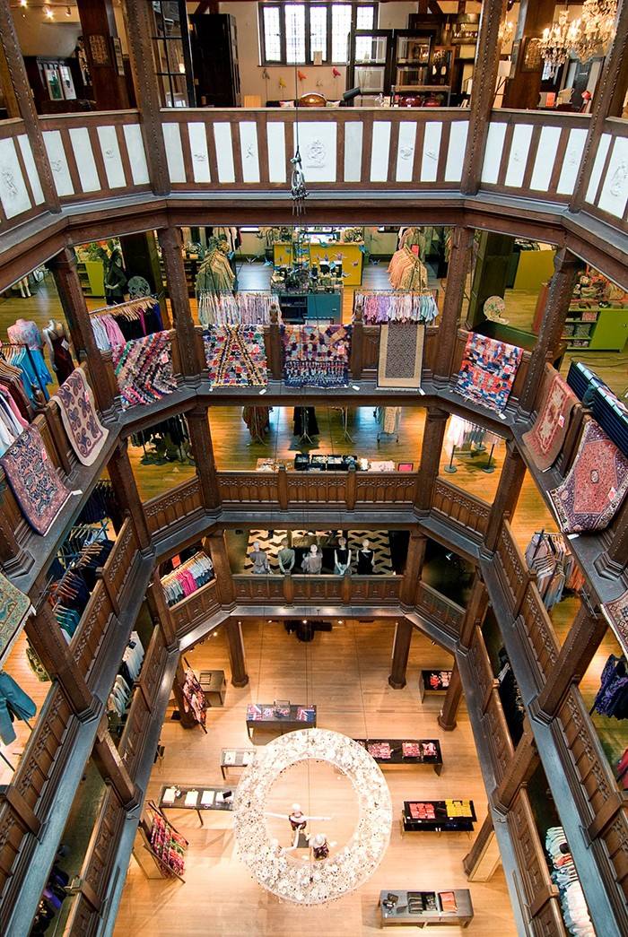 Interior of Liberty of London - what a beautiful store.