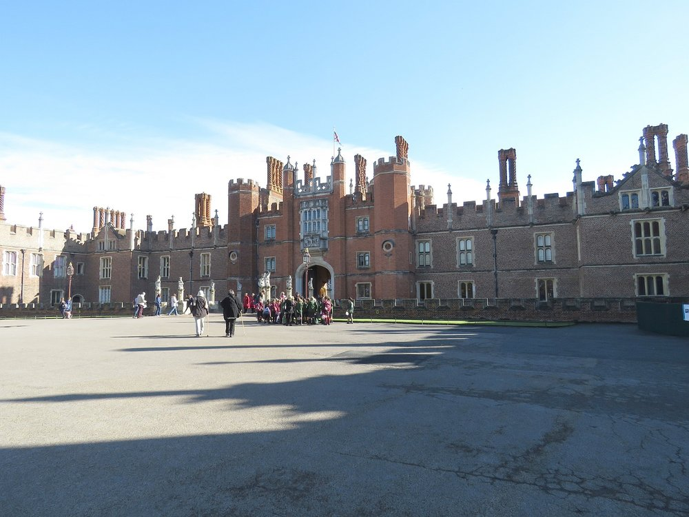 Approaching Hampton Court, on the Base Court