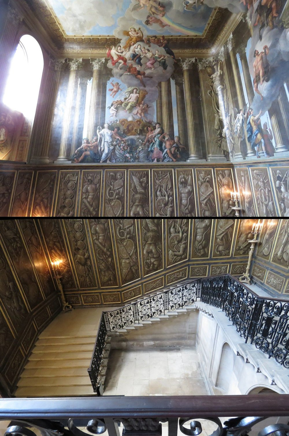 The Queen's Staircase (Queen Mary, wife of William), cobbled together by me to show the size and beauty.