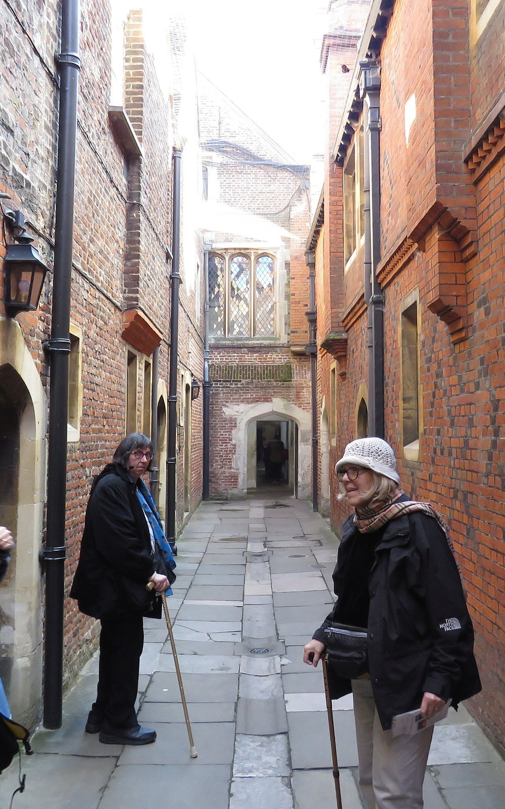 Down the alley outside the enormous kitchens that served the palace.