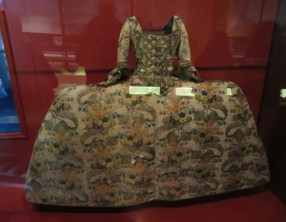 One of many amusing costumes in the Museum of London.  Yes, some lucky lady wore this.