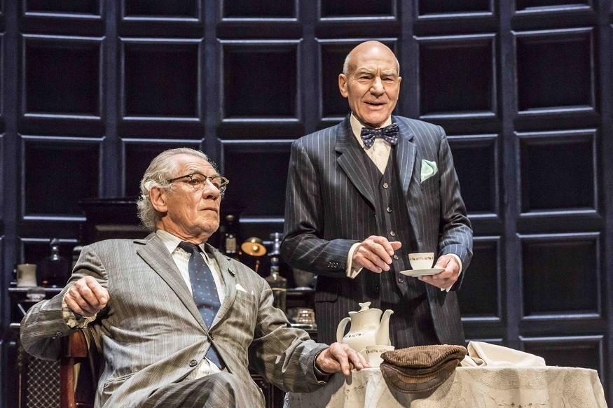 """Ian McKellan and Patrick Stewart in Harold Pinter's """"No Man's Land""""."""