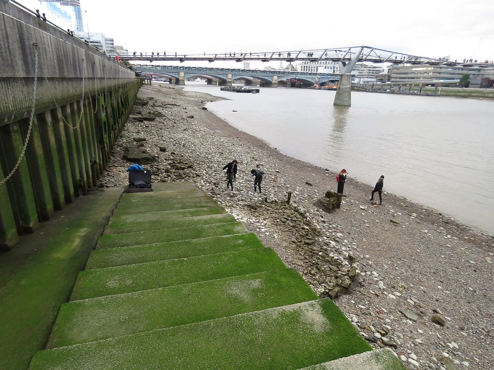 Thames at low tide