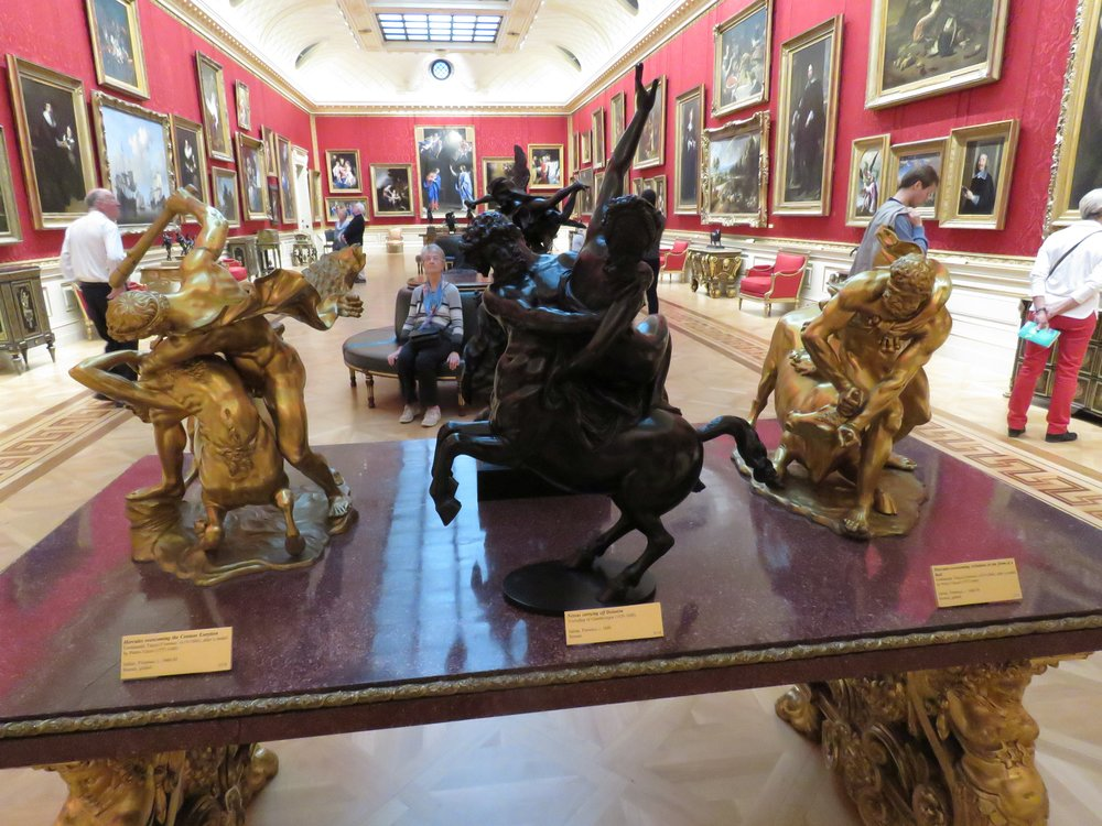 One of many galleries featuring paintings, sculpture and furniture.  More photos follow the post