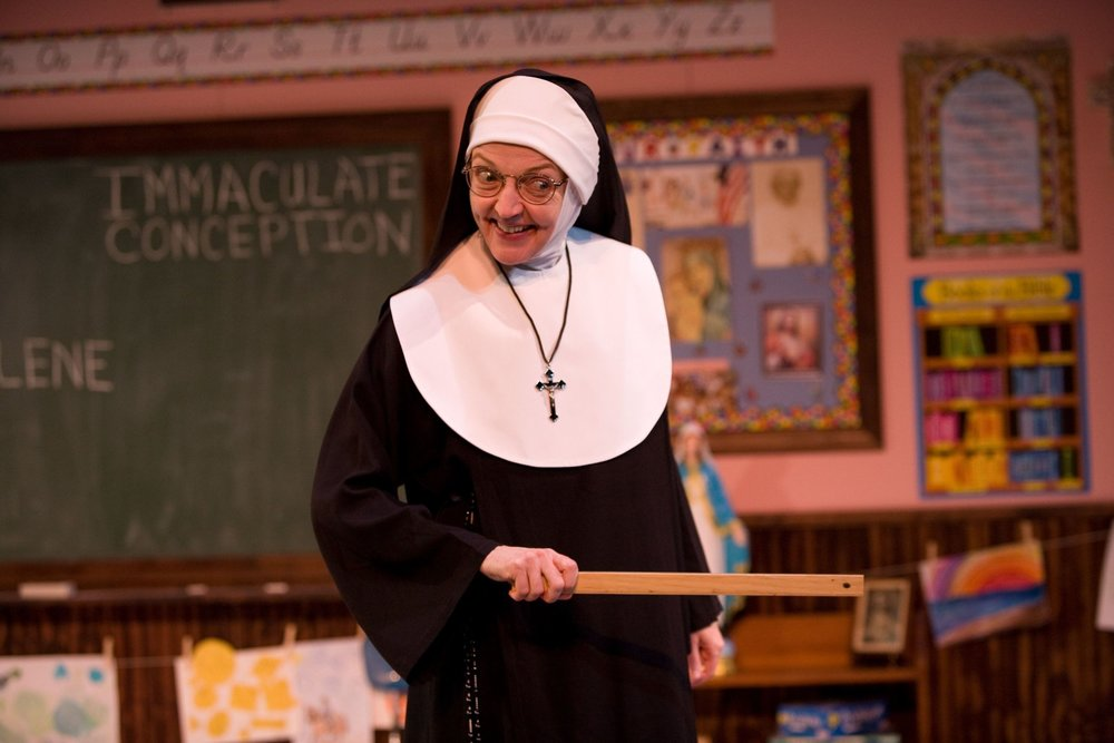 """Sister"" Mary Zentmyer in Late Nite Catechism at the Royal George Theater"
