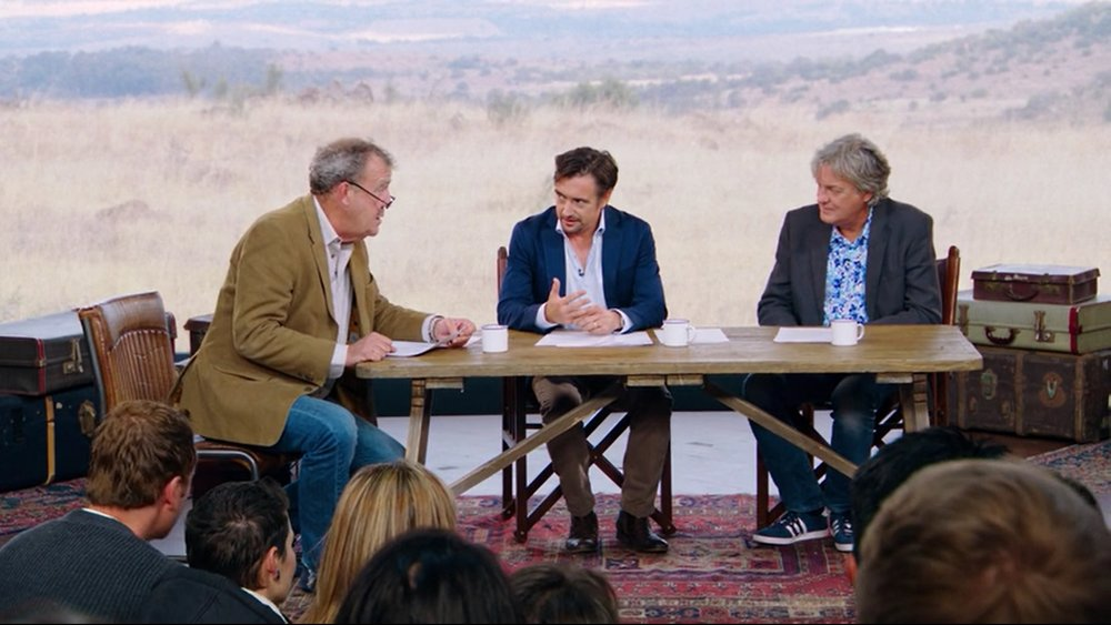 Yep, that same trio (from L-R): Jeremy Clarkson, Richard Hammond and James May (Amazon)