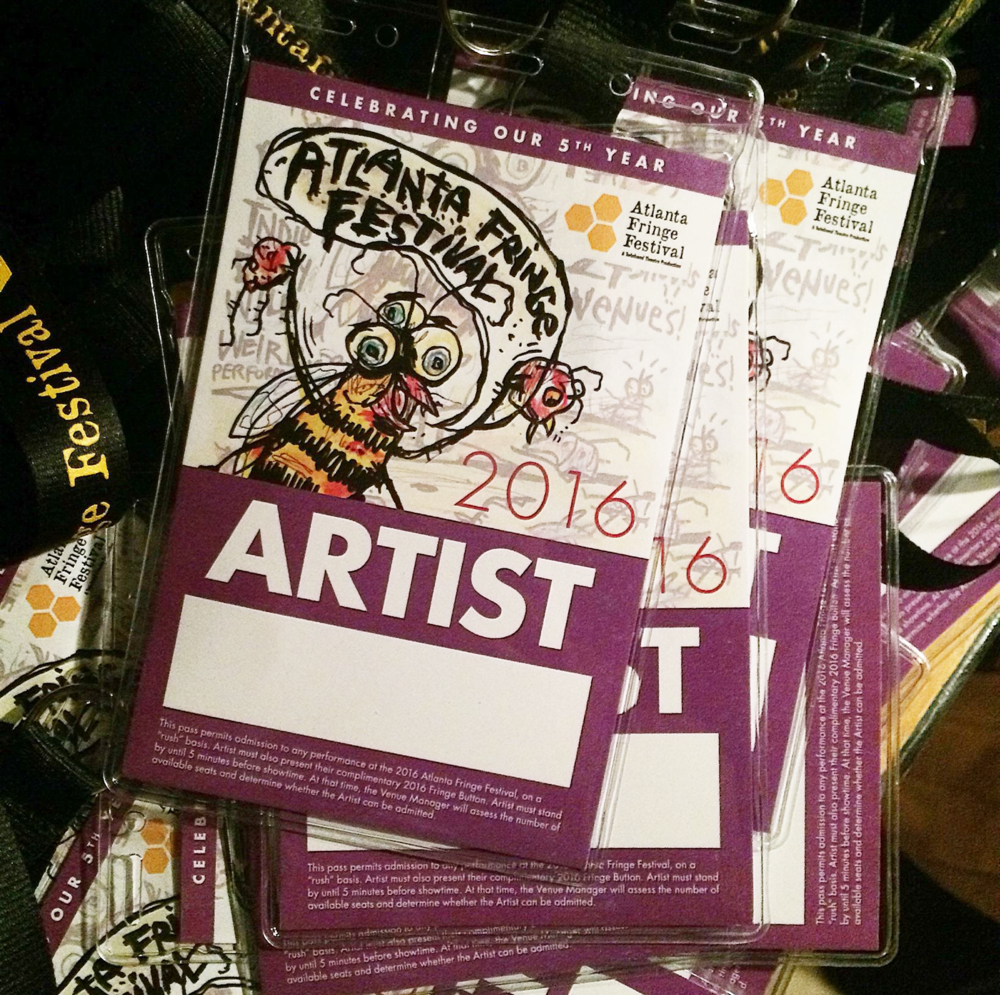 2016 Atlanta Fringe Festival: Environmental, print, and digital design.