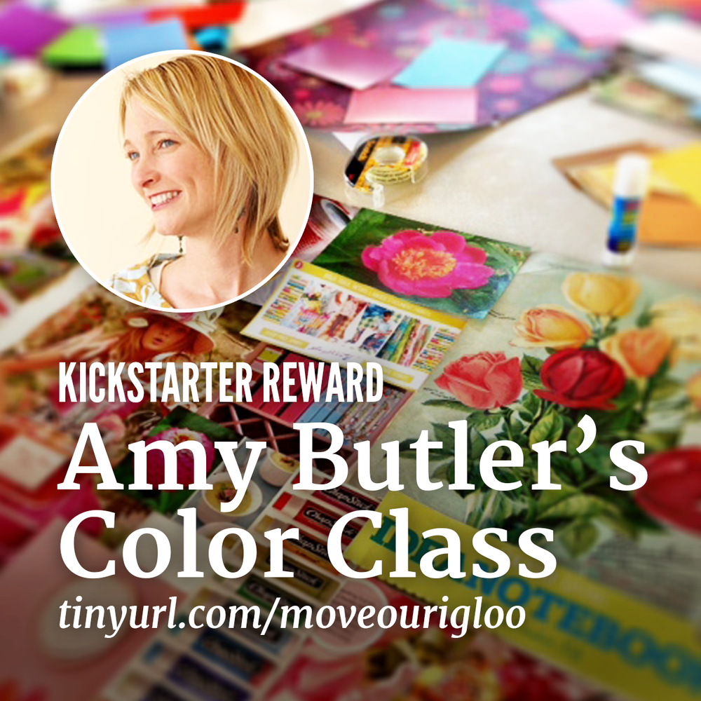 Amy Butler's Color Class June 4 Time TBD Join Amy for this colorful image inspired workshop packed with ideas, techniques and inspiring insights on building unique and signature color palettes for your design work. Amy will begin with an inspirational presentation and then guide you as you create a collage from your personal inspirational images, fabric, ephemera and photos. In addition, the Igloo studios will be open to the class for exploring different ink and paper color combinations.  $230