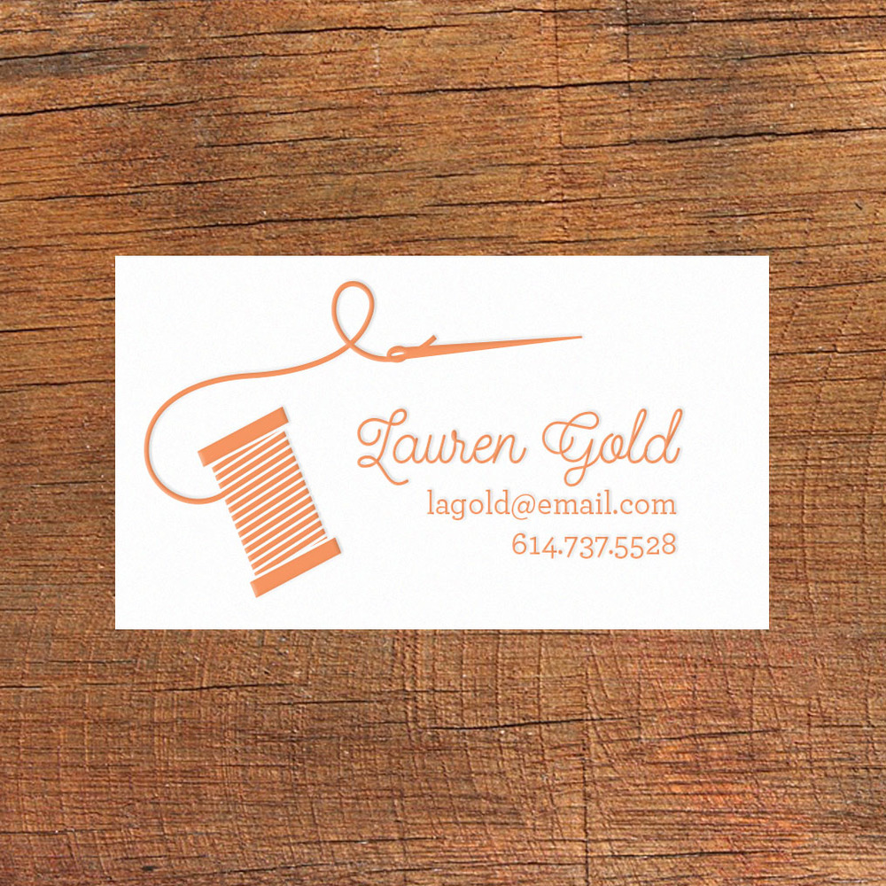 sewing calling card - Calling Card