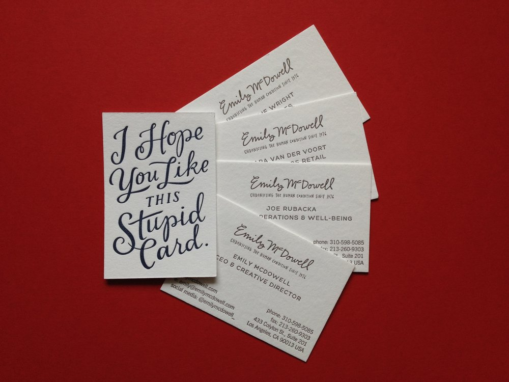 Business cards stationery igloo letterpress reheart Gallery