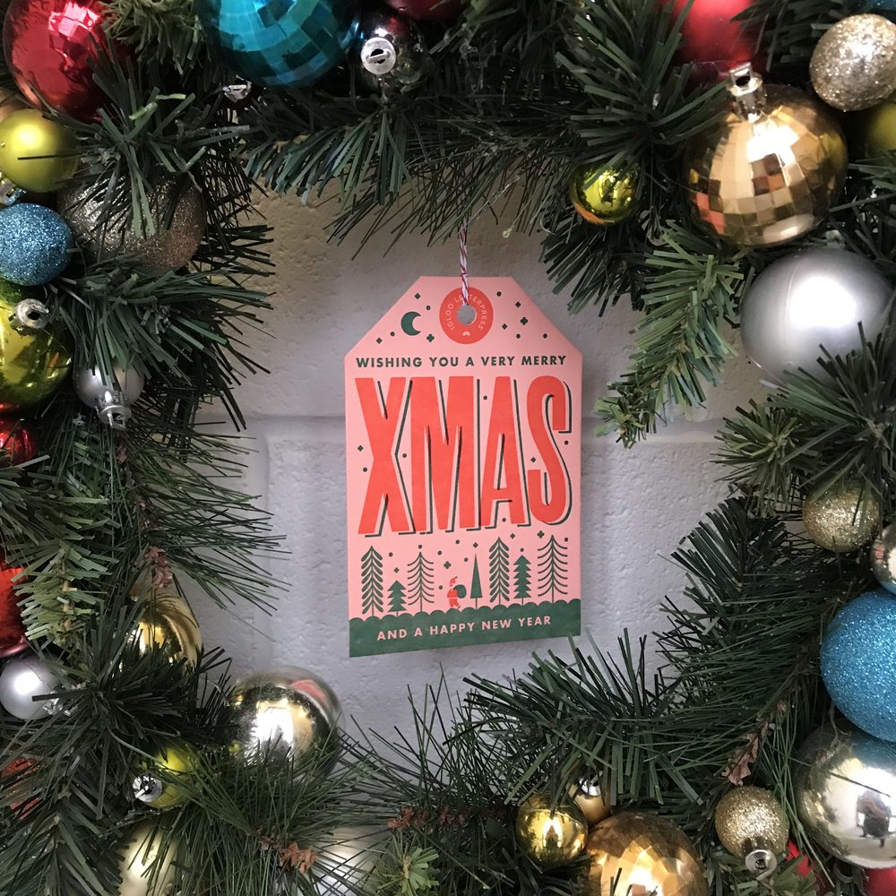 Merry X-MAS holiday card inspired by vintage travel tags — Igloo ...