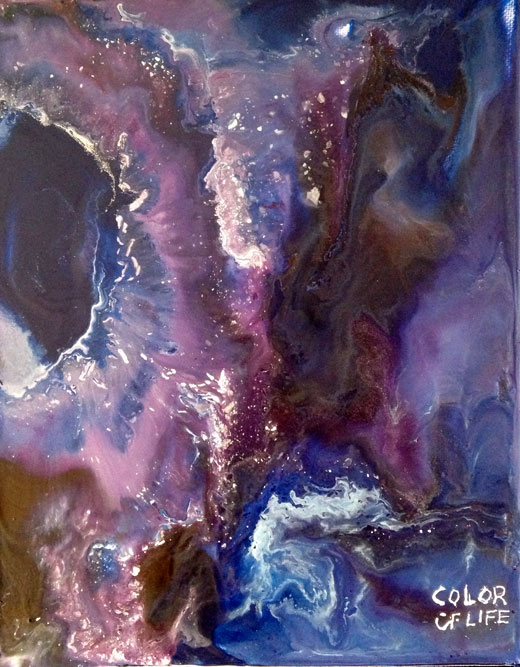 Crayon Art Purple