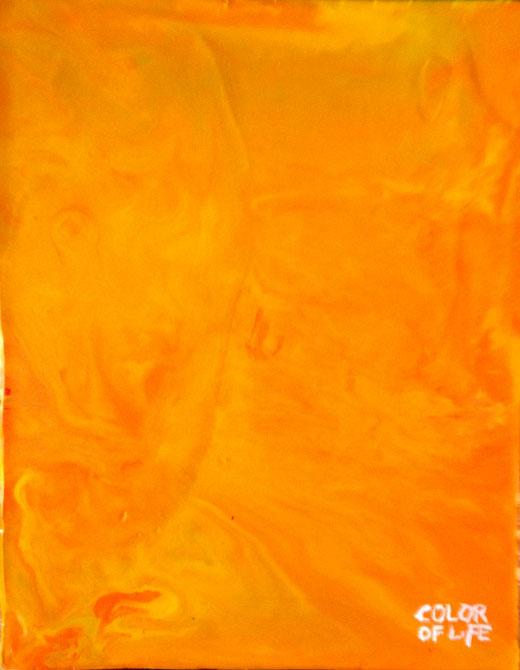 Crayon Art Yellow / Orange