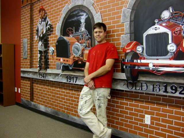 Fire Department mural