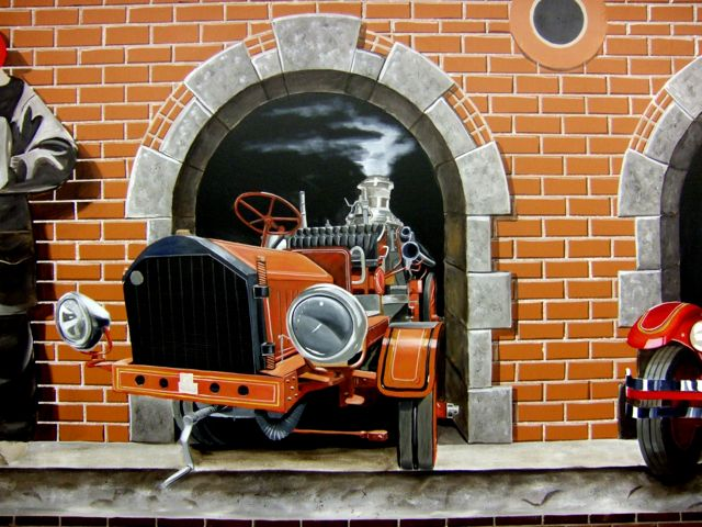 Fire engine Mural