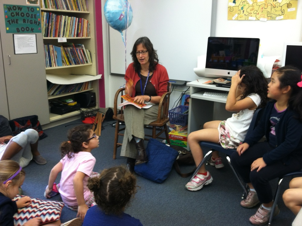 Talking to second-graders in Princeton, N.J. about how to research and write a book (and how to pull a good prank).