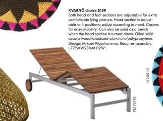 Ikea kvarno chaise lounge - Chaise bar pliante ikea ...