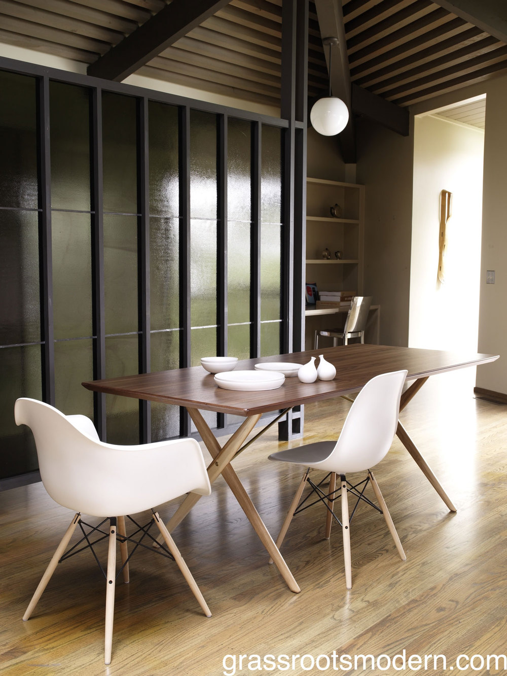 Eames Molded Chair With Wood Dowel Base