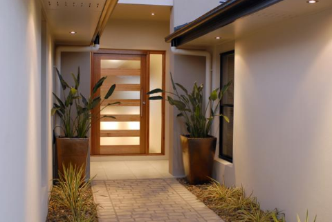 Affordable modern pivot doors for Affordable exterior doors
