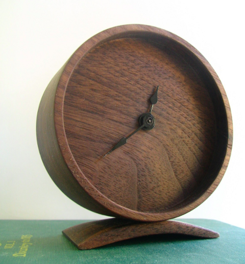 Minimal Wood Clock Off Cut Studio Grassrootsmodern Com